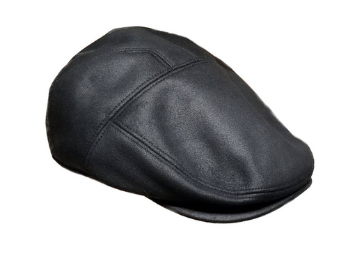 Henschel Faux Ultra-Suede Leather Ivy Hat Newsboy Flat Cap 4525 New Shape