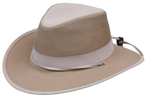 Kenny K Safari Hat, Lightweight Mesh, Chin Strap, Outback, Aussie LW13