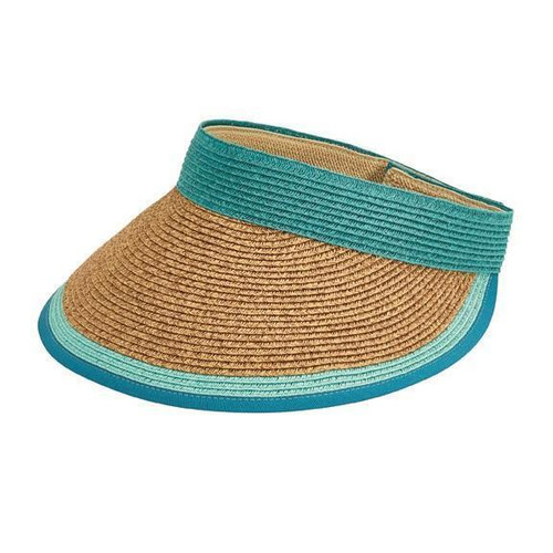 San Diego Hat Company Women's Visor With Contrast Color Stripe UPF 50+ UBV047