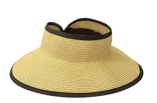 San Diego Hat Company Signature Women's Ultrabraid Large Brim Visor UBV002
