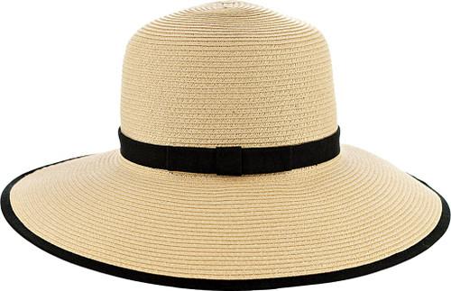 Karen Keith Sunhat Sun Hat Braided Toyo Straw, Designed for Reading, Ponytail, Messy Bun, Long Hair BT9-CB LTC Hats