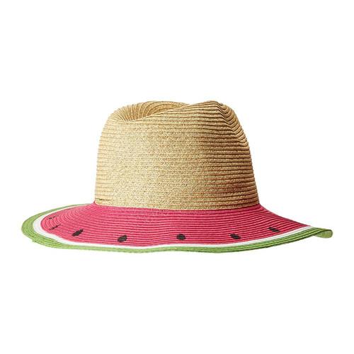 San Diego Hat Company UBF1102 Colorful Fruit Fedora, Sunhat Playful and Flirty Watermelon, Lemon, Orange