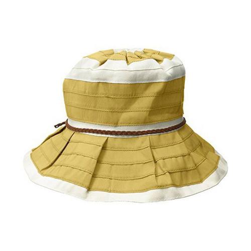 San Diego Hat Company Women's Bucket Sun Hat, 4-inch Brim, Faux Suede Braided Trim, Olive, One Size