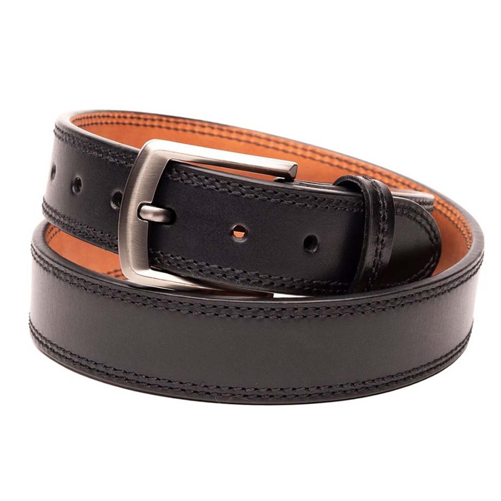 Black Leather Gun Belt
