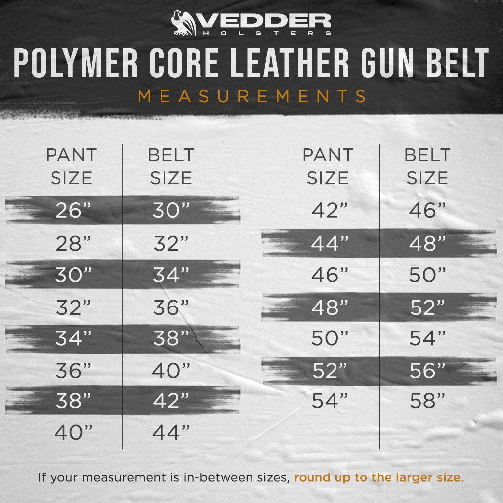 Polymer Core Leather Gun Belt