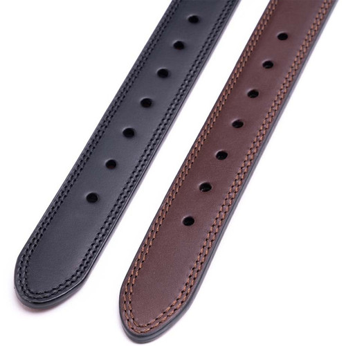 Holes on Black and Brown Leather Gun Belts