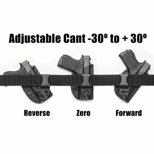 LightTuck™ Kydex IWB Gun Holster showing adjustable cant