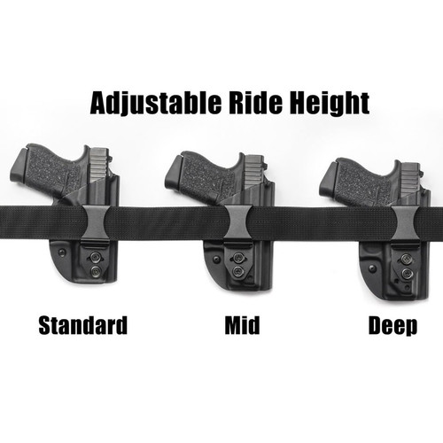 LightTuck™ Kydex IWB Gun Holster showing ride height