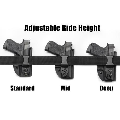LightTuck™ Kydex IWB Gun Holster showing ride height