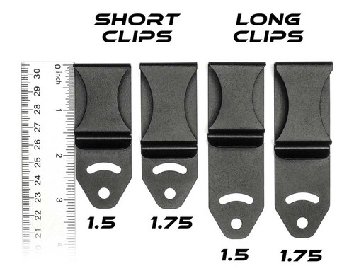 Single Rock Solid Spring Steel Belt Clip (Tuckable)