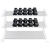 Hex 8 Sided Rubber Dumbbells 55 - 75 LB Set
