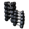 Rubber Hex Dumbbells 80-100lbs (Pairs) (SDR900)