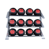 Body Solid Commercial 3 Tier PCL Medicine Ball Rack (SDKR1000MB)