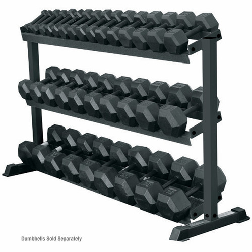 York Barbell 3-Tier Pro-Hex Dumbbell Rack