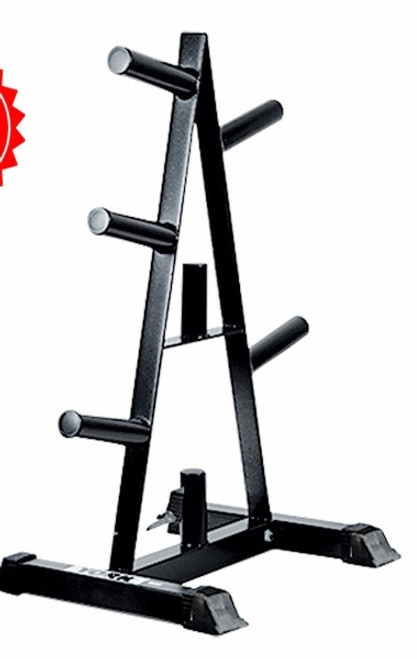 York Barbell Olympic A-Frame Plate Tree (Black)