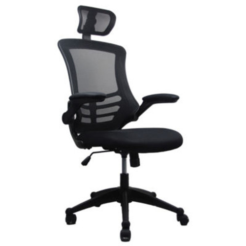 Techni Mobili Executive High Back Chair with Headrest (XOUT-RTA80X5-SILVERGRAY)