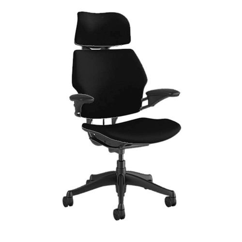 Freedom Chair with Headrest by Humanscale (XOUT-F211-GCF10-F-S-H-2)