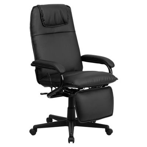 High Back Leather Executive Reclining Office Chair (XOUT-FFBT-70172-BK-GG)