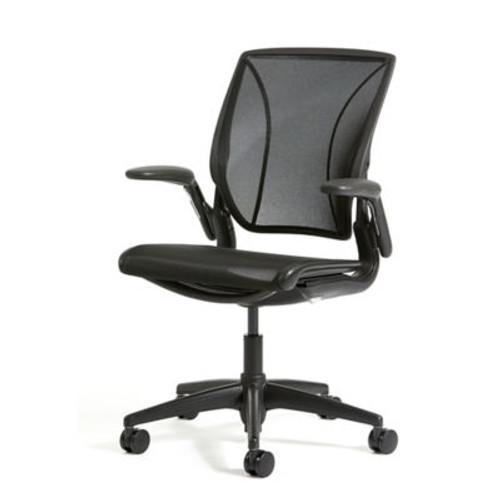 World One Chair by Humanscale (XOUT-HSWLT1BR10R10-BLACK-7)