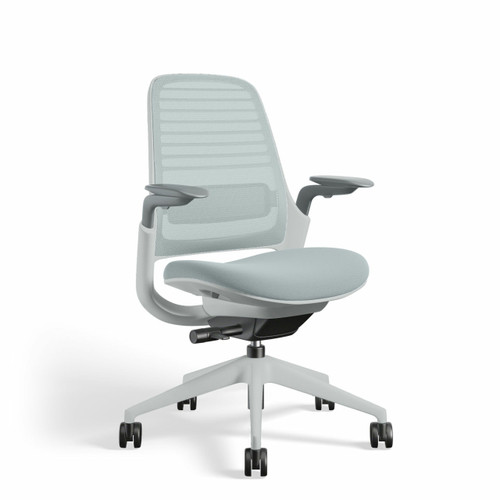 Series 1 Chair by Steelcase (XOUT-435A00-SEAGULL-5T20-5S24-SEAGULL-ARMS-6249-BB-NHR-NCH-8)