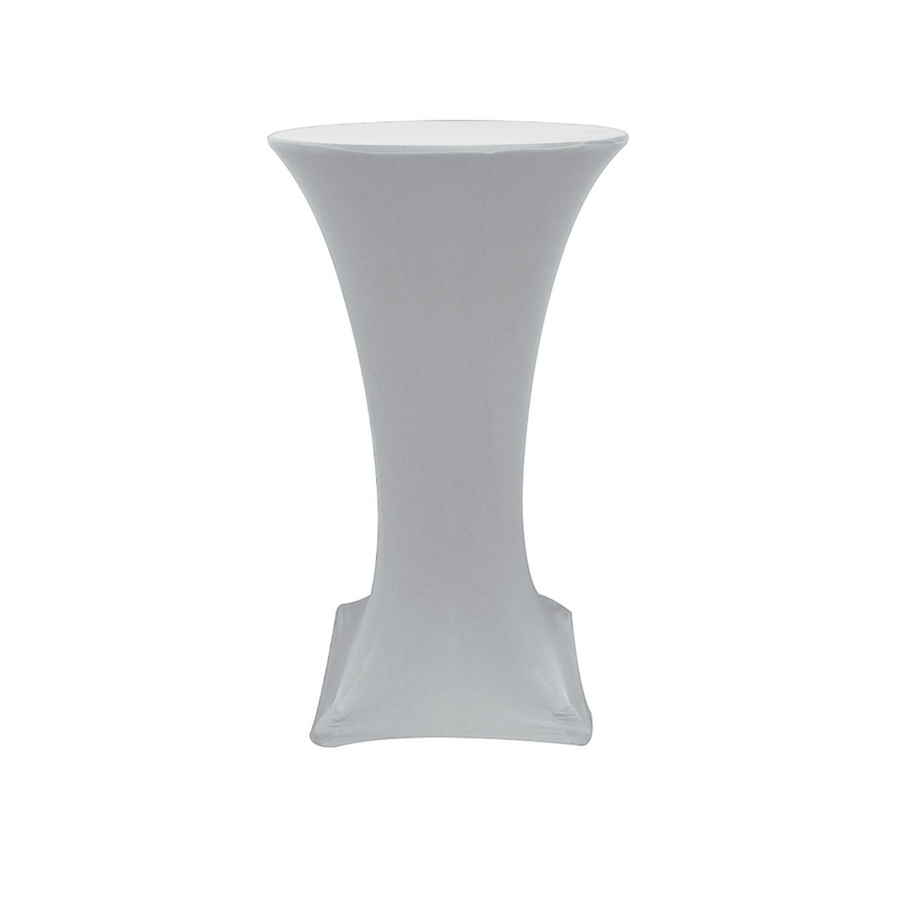 225 & 24 inch Highboy Cocktail Spandex Table Cover Silver