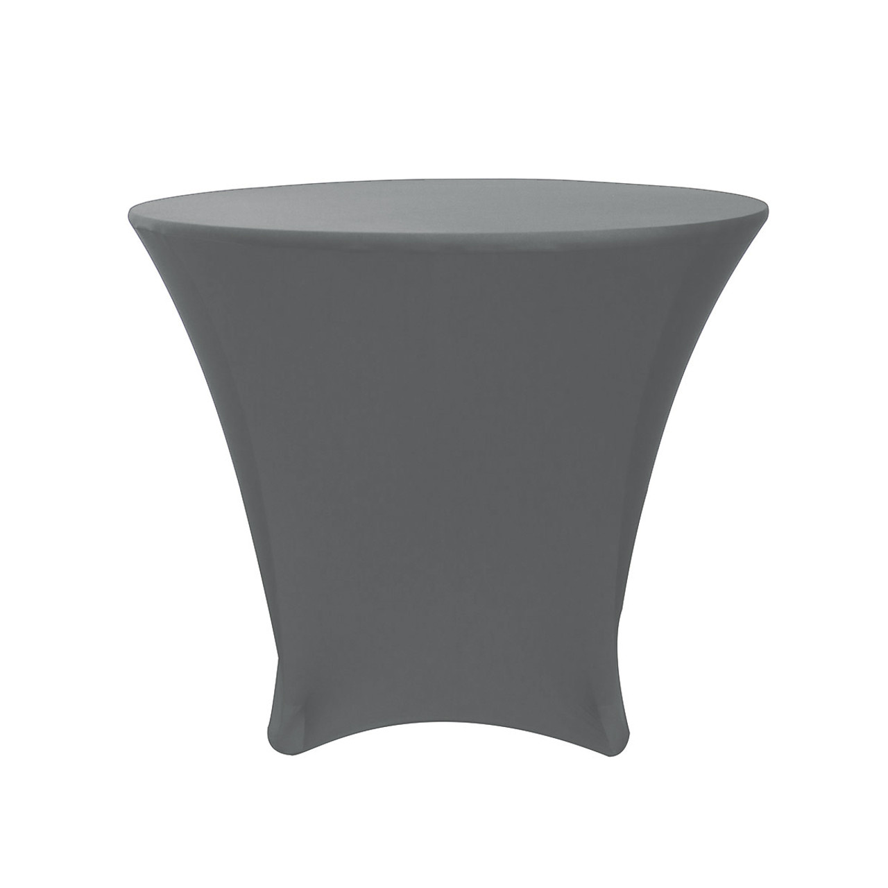 225 & 36 x 30 inch Lowboy Cocktail Spandex Table Cover Silver