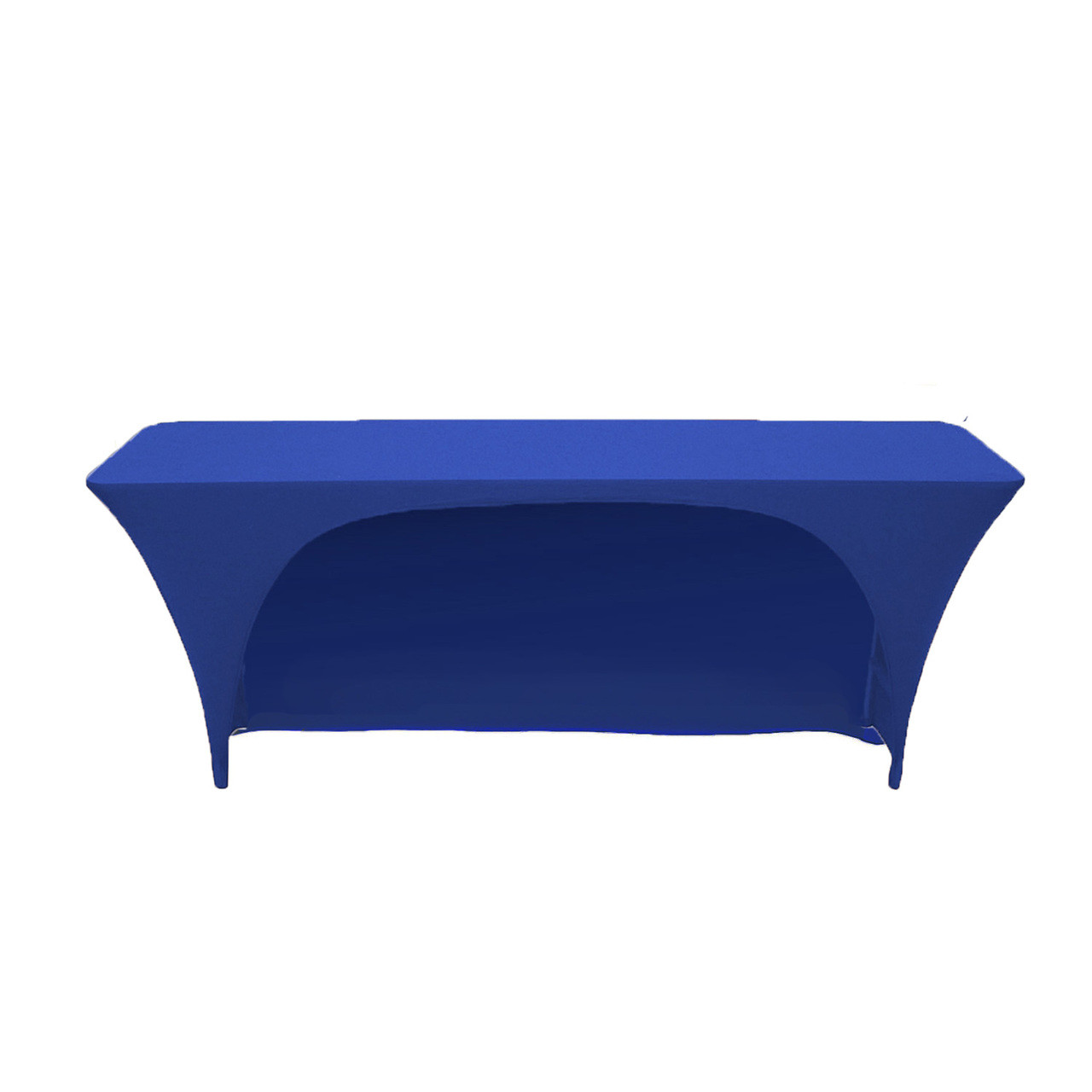 Spandex 6 Ft x 18 Inches Open Back Classroom Rectangular Table Covers Royal Blue  sc 1 st  Bridal Tablecloths & Spandex 6 Ft x 18 Inches Open Back Classroom Rectangular Table ...