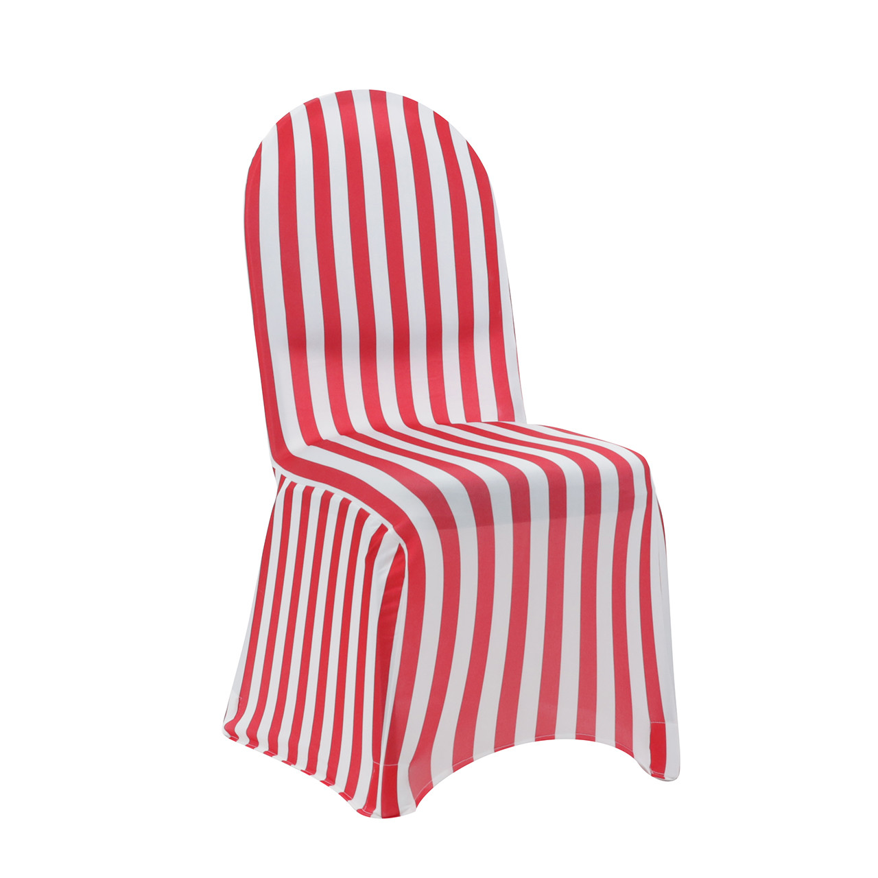 Pleasing Spandex Chair Cover Striped White And Red Pack Of 6 Gmtry Best Dining Table And Chair Ideas Images Gmtryco