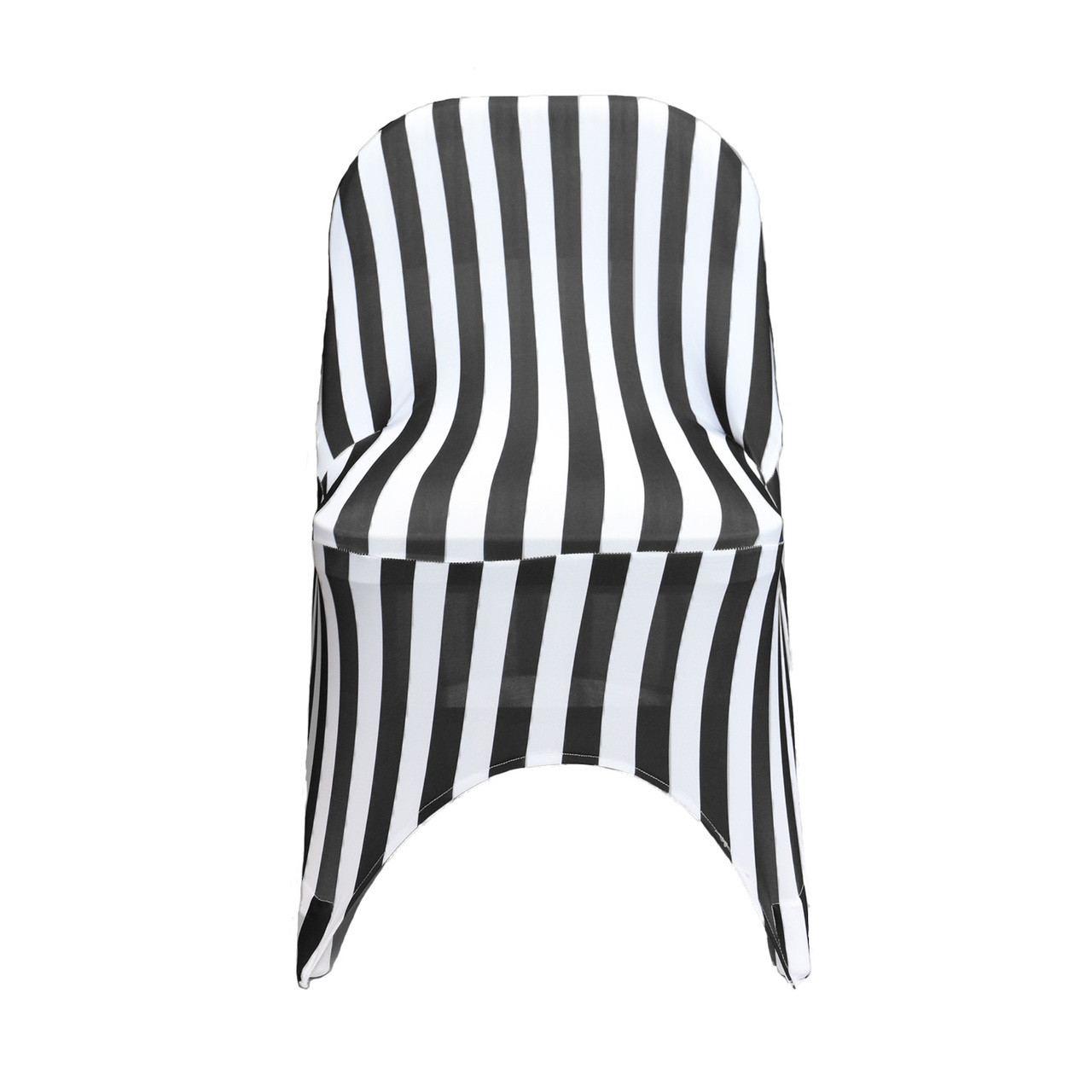 Pleasing Stretch Spandex Folding Chair Covers Striped Black And White Pack Of 6 Unemploymentrelief Wooden Chair Designs For Living Room Unemploymentrelieforg
