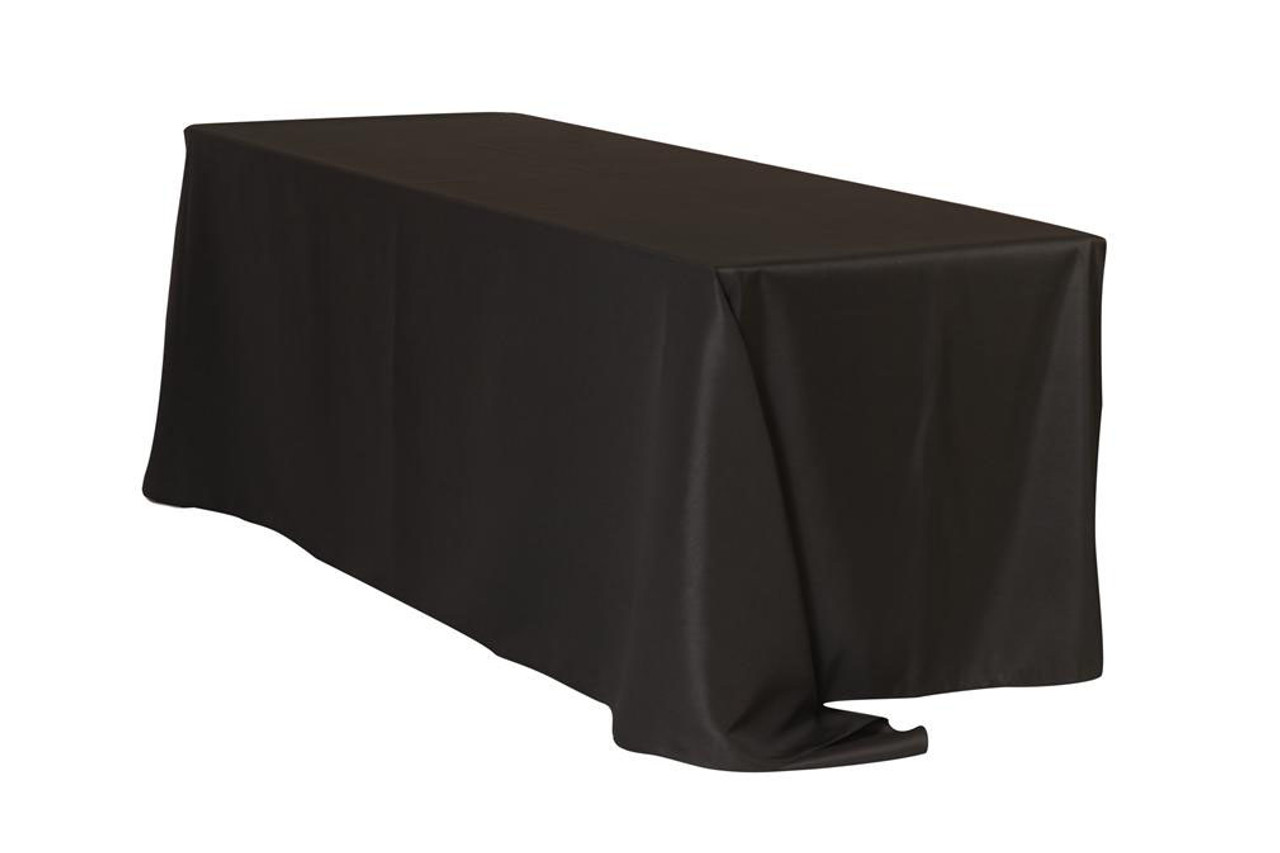 90 X 132 Inch Black Polyester Rectangle Tablecloths For Weddings | Bridal  Tablecloths