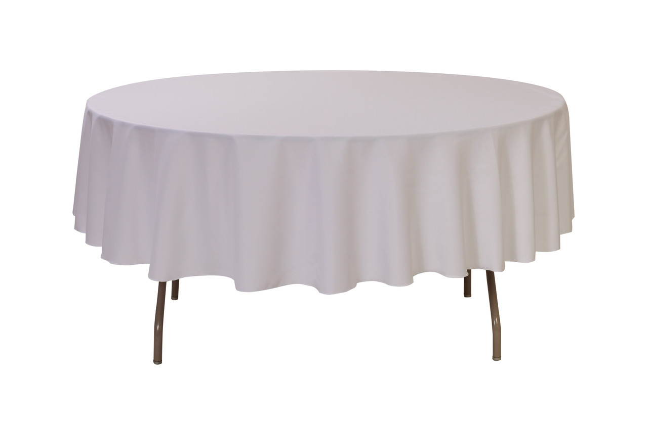 Awe Inspiring 90 Inch Polyester Round Tablecloth White Interior Design Ideas Gentotryabchikinfo
