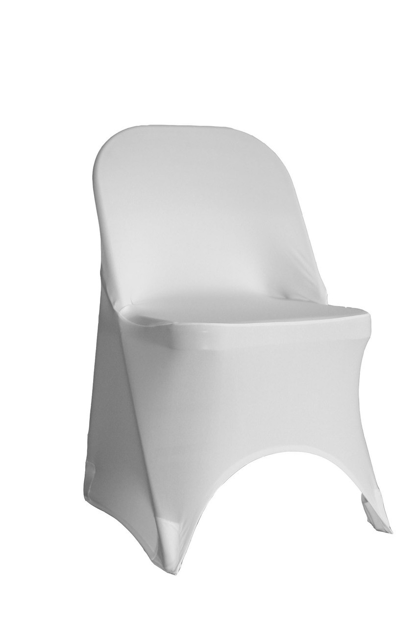 Pleasant Stretch Spandex Folding Chair Cover White Pack Of 6 Pabps2019 Chair Design Images Pabps2019Com