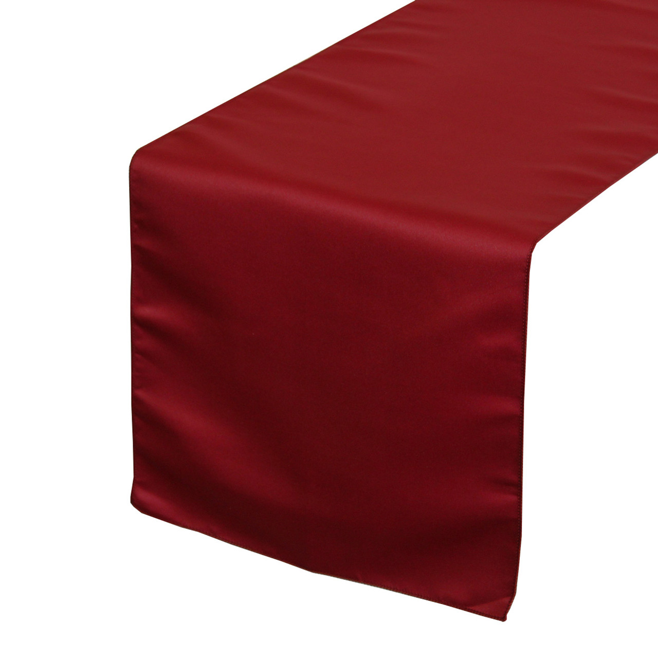 cd6f39582f652 Dark Red Lamour Satin Table Runners for Weddings   Bridal Tablecloths