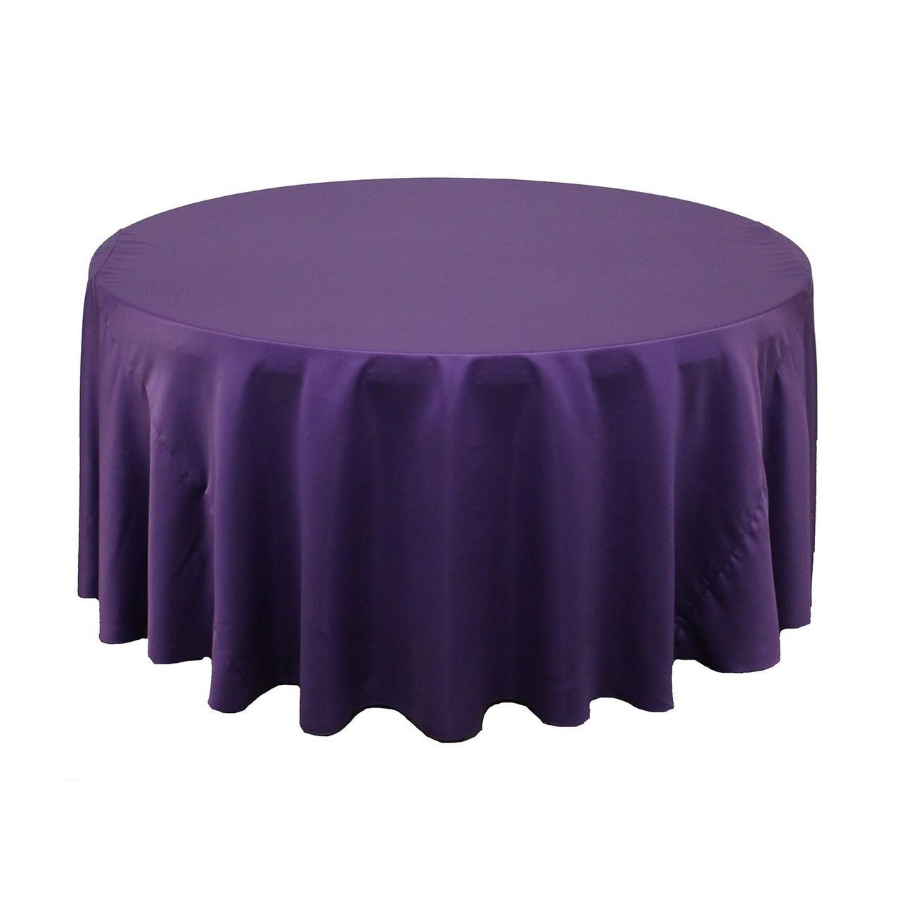 Wholesale Wedding Table Linens 132 inch Lu0027amour Round Tablecloths Purple | Wholesale Wedding Table Linens