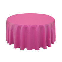 120 inch L'amour Round Tablecloth Fuchsia | Wholesale Wedding Tablecloths