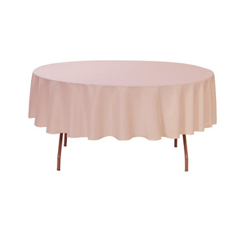Superieur 90 Inch Polyester Round Tablecloth Blush