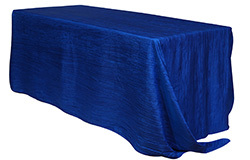 90 x 132 in. Crinkle Taffeta Rectangle Tablecloths
