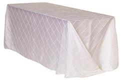 90 x 156 in. Pintuck Taffeta Rectangle Tablecloths