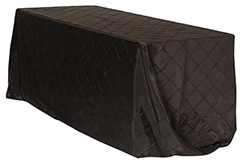 90 x 132 in. Pintuck Taffeta Rectangle Tablecloths