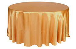 120 inch Satin Round Tablecloths