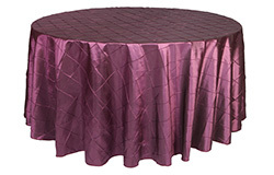 120 inch Round Pintuck Taffeta Tablecloths