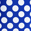 Royal Blue and White Polka Dot Table Linens
