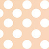 Peach and White Polka Dot Table Linens