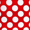 Red and White Polka Dot Table Linens