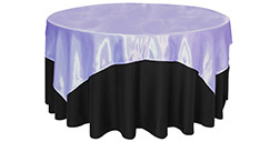72 inch Square Satin Table Overlays