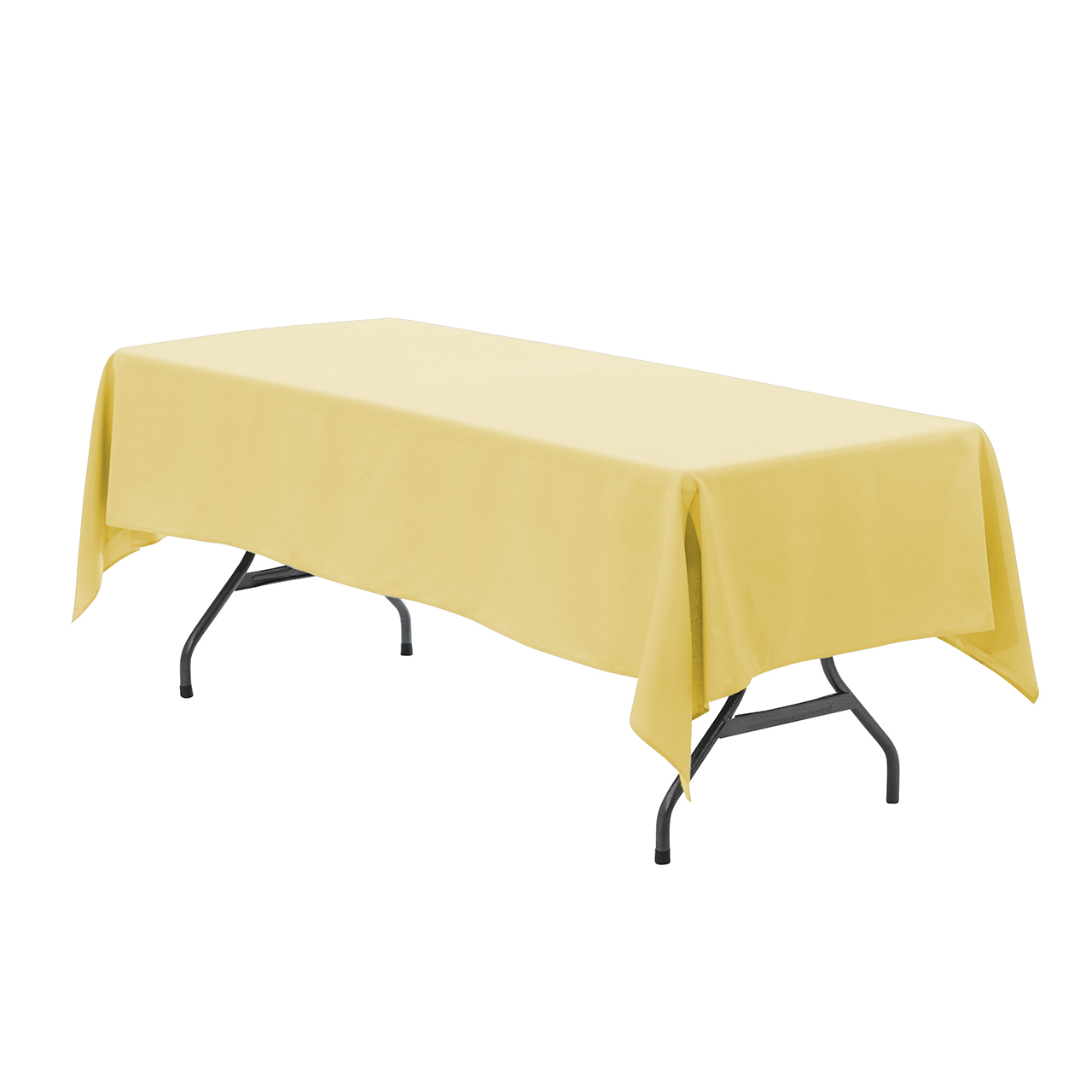 60 X 102 Inch Rectangular Polyester Tablecloths Pastel Yellow Wholesale Table Linens