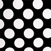 Black and White Polka Dot Table Linens