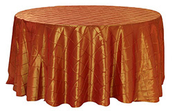 132 inch Pintuck Taffeta Round Tablecloths