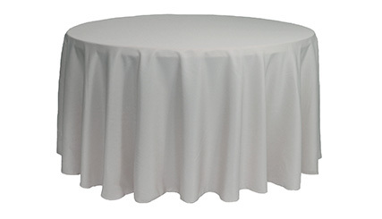 120 inch Polyester Round Tablecloths