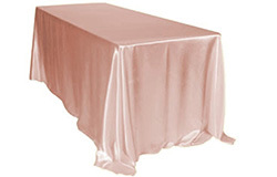 90 x 132 in. Satin Rectangle Tablecloths
